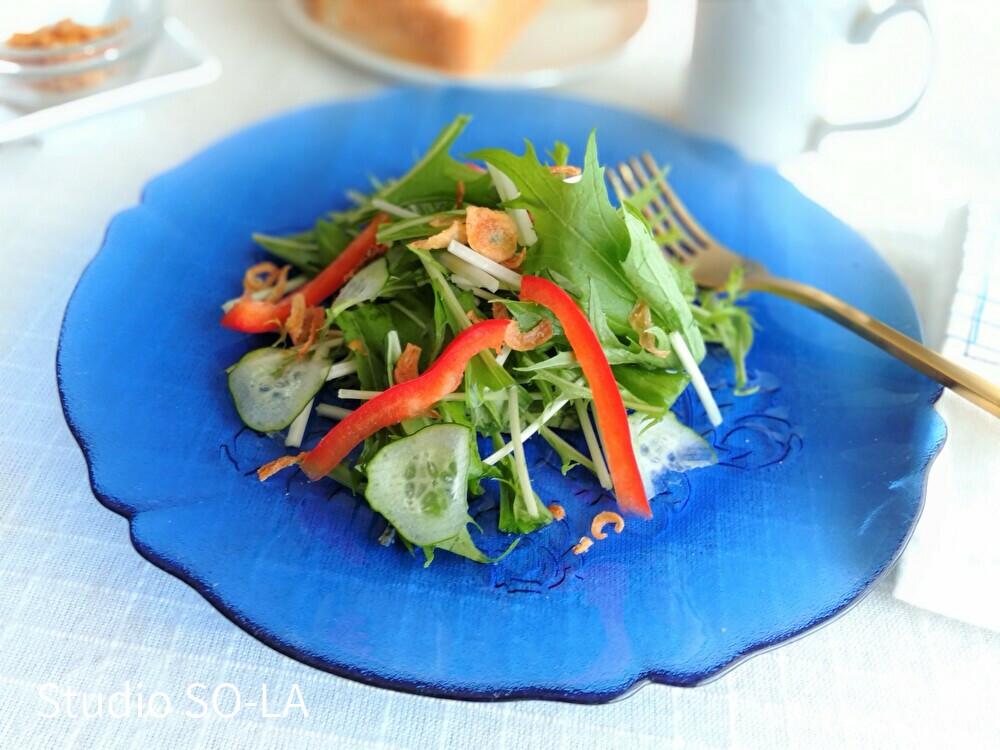 そらの台所 水菜サラダ